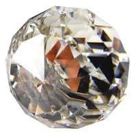 OVO® TEZ® Crystal Glass Curtain Pole Head Finial - Polished Chrome - Sold as pair.